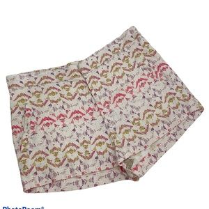 Free People Linen Look High Rise Pattern Shorts